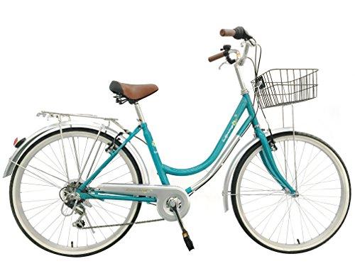ladies-girls-spring-dutch-style-bike-bicycles-6-speeds-with-warranty-lightweight-blue-green