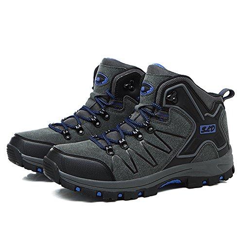 Gomnear Uomini Stivali da escursionismo Donne Scarpe Trekking Unisex Alta Rise Non scivolare All'aperto arrampicata Scarpe da ginnastica Grigio scuro