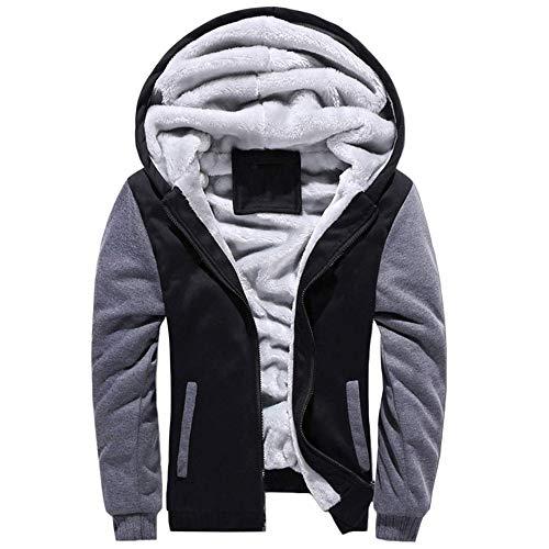Ligg uomo felpa con cappuccio manica lunga felpe con cappuccio vello foderato hoodies con cerniera cappotto giacca inverno caldo