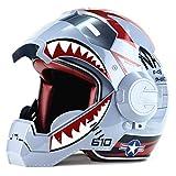 wthfwm Iron Man Casque De Moto Marvel Motocross Vélo De Montagne Casque...