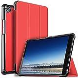 IVSO Huawei MediaPad M5 8.4 Coque Etui Housse, Slim Smart Cover Housse de Protection pour Huawei MediaPad M5 8.4 Pouces 2018 Tablette, Rouge