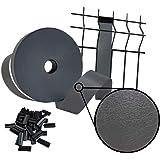 Sorton Brise-Vue en PVC pour extérieur pour Panneau grillagé, 46 mm x 70 m, 700 g/m², Protection pour clôture, décoratif + Cl