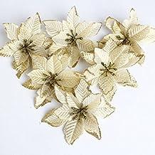 Navidad Flores Artificiales Planta de Follaje Falso para la Cocina Casera Garland Garden Office Pared de