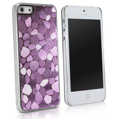 BoxWave LuxePavé iPhone 5Fall-Hybrid-Hartschale Kunststoff Mosaik Muster Girly Schutzhülle mit Schimmer Glänzend Mosaik Design-Apple iPhone 5Fällen und Abdeckungen (Pink) (Iphone5 Bling Fällen)