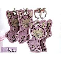 LAMA Llama rosa glitzer Schlüsselanhänger Taschenanhänger