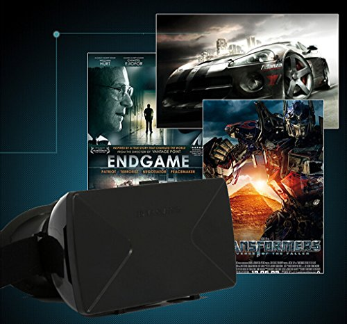 Hibote Universal 3D-Brille Portable Virtual Rreally 3D VR Box Glasses Head-mounted Google Cardboard Version 3D VR Glasses Headset DIY 3D VR Video Movie Game Glasses with Mini Multifunctional Wireless Bluetooth Camera Shutter Gamepad Control for iPhone 6Plus 6 Samsung Note 4 / All 4 ~ 6.5