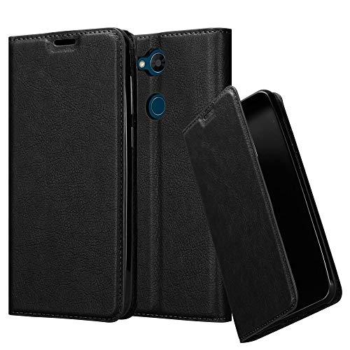 Preisvergleich Produktbild Cadorabo Hülle für LG X Power 3 in Nacht SCHWARZ - Handyhülle mit Magnetverschluss,  Standfunktion und Kartenfach - Case Cover Schutzhülle Etui Tasche Book Klapp Style