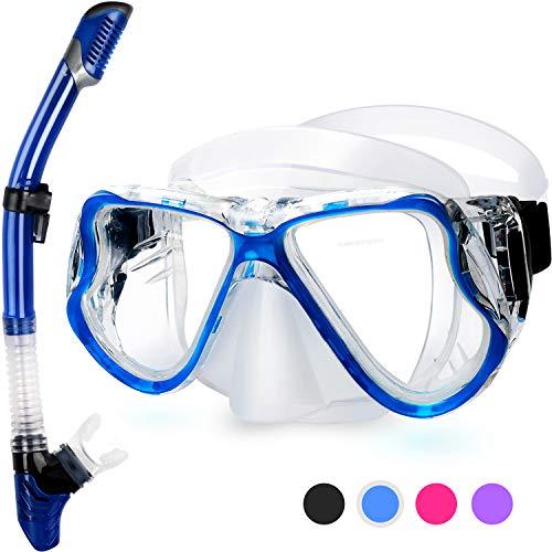 Fenvella 2019 Set Snorkeling, Anti-Fog Maschera Snorkeling con Panoramica a 180 Gradi e...