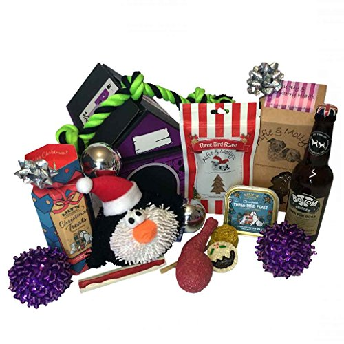 Christmas Hamper for Dogs with Dog Beer