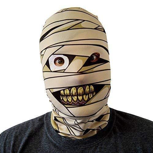 gruselig Halloween Gesichtsmaske Mumie Monster Design Kostüm Horror Lycra