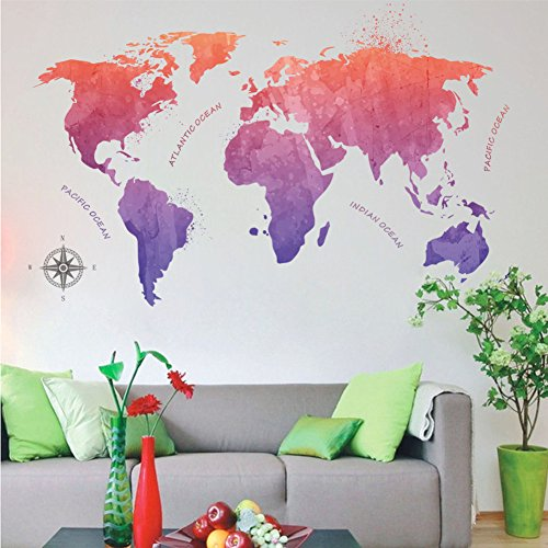 Wallpark Artístico Chino Estilo Rojo Púrpura Pintura