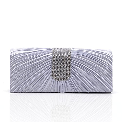Chirrupy Chief, Poschette giorno donna Viola Purple small Silver