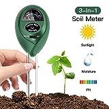 Basico Bodentester, 3-in-1 Boden PH, Feuchtigkeit und Licht Tester für Outdoor / Indoor-Pflanzen, Gärten & Gras Rasen (keine Batterie erforderlich)