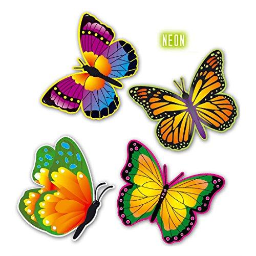 terlinge Butterfly Deko 32 cm Schmetterlingsdeko Hawaii Partydeko Strandparty Dekoration Frühling Wanddeko Raumdeko ()