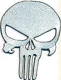 THE PUNISHER Totenkopf Skullhead Skelett Biker Heavy Metal Aufnäher Patch
