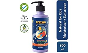 Cocomo Natural Sulphate and Paraben Free Moisturiser (Body Lotion) and Suncreen Lotion for Kids (SPF 15) - Moon Sparkle 300ml (Age: 4 yrs and above)
