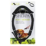 Sherpa Hundehalsband, mit integrierter Leine, Größe L, Schwarz