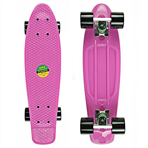 senmi-mini-complete-22-inch-plastic-skateboard-single-color-style-with-7-colors
