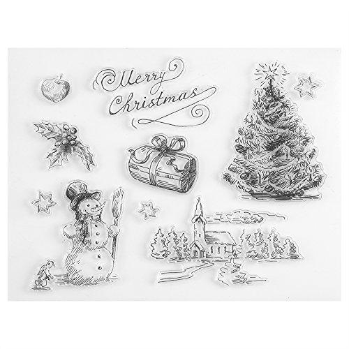 FTVOGUE Weihnachten Schneemann Baum Silikon Klar Stempel Scrapbook Album Home Decor Geschenkkarte Kind Erwachsene DIY -