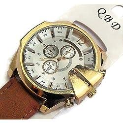 QBD Herren King Größe Kalender Armbanduhr. Übergroße, Jumbo und geschoben.