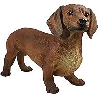 Tierfigur Hund Langhaardackel Dekofigur Skulptur Gartenfigur Dackel Teckel Haus