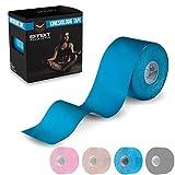 Effekt Manufaktur Kinesiologie Tape in verschiedenen Farben (5m x 5cm) - Kinesiotapes wasserfest und elastisch für Sport - Physiotape Kinesiotape Sporttape - Kinesio Tapes (Hellblau, 1 Rolle)