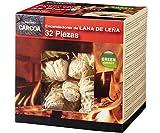 Carcoa Fuego 0326 - Pastillas de lana de leña FSC 100%, color rojo