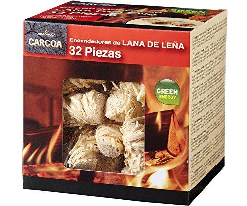 Carcoa Fuego 0326 Pastillas de Lana de Leña FSC 100%, 1 Paquete...