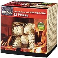 Carcoa Fuego 0326 Pastillas de Lana de Leña FSC 100%, Rojo, 14x14.