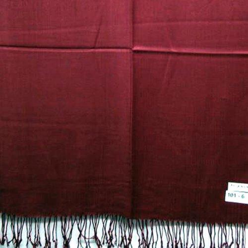 2 plis brillant Châle Pashmina Écharpe et étole doux chaud Bordeaux