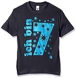 Coole-Fun-T-Shirts Jungen T-Shirt Ich Bin 7 Jahre!, Gr. One Size (Herstellergröße: 152cm/7 Jahre), Blau (Navy-Sky)