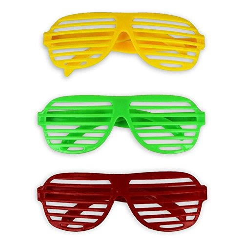 dd42f586e81 Heart Service Party Goggles Shutter Shading Glasses Plastic Glasses Fun Glasses  Party Cosplay Props 3 Pieces Random Color