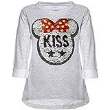 Kinder Mädchen Wende-Pailletten Sweatshirt Langarm Shirt 21724 Grau Größe 164 Test