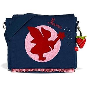 Kindergartentasche & Kindergartenrucksack in einem: Fee für Mädchen (mit Namen) in blau