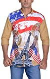Zed One Men's Slim Fit Casual Shirt (Zed...