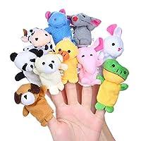 Siumir Animal Finger Puppets Plush Finger Toys for Kids Story Time 10 pcs