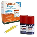 Lyra 2 x 100 ml Pet IPERON + 2 x 100 ml Ardap Fogger Vernebler + Zeckenzange