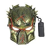 Umiwe Raubtier Cosplay Halloween-Maske, LED-Leuchten gruselig El-Draht leuchten Masken für Maskerade-Party Festparty Kostüm