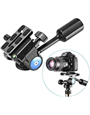 Neewer Single Handle Tripod Ball Head Three-Dimensional 360 Degree Rotation, with 1/4-3/8 Inches Screw for Tripod Monopod Camera Bracket Light Stand, Max Load 22 Pounds/10 Kilograms