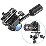 Neewer Heavy Duty Fotocamera Treppiede con Testa a Sfera con 1/4 Pollice Piastra di Scarpe Veloce, Tridimensionale 360 Grado di Rotazione Fotocamera DSLR, Videocamera, 10 Kg