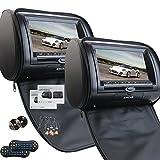 Universal par de apoyos para la cabeza del coche de 7 pulgadas con doble reproductor de DVD para el transmisor...