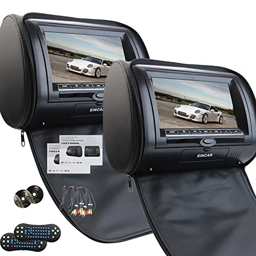 Universal Paire de Appuie t¨ºte de voiture avec 7 pouces Double lecteur DVD pour Transmetteur FM IR Support voiture USB SD