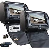 Universal par de apoyos para la cabeza del coche de 7 pulgadas con doble reproductor de DVD para el transmisor de FM IR de la ayuda del coche del USB SD