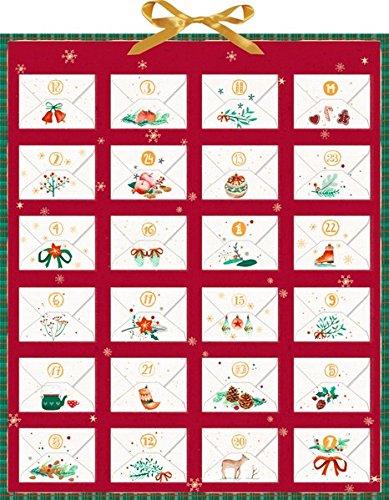 Weihnachtspost für dich! Zettelkalender: Durch den Advent mit Ringelnatz, Rilke, Morgenstern & Goethe