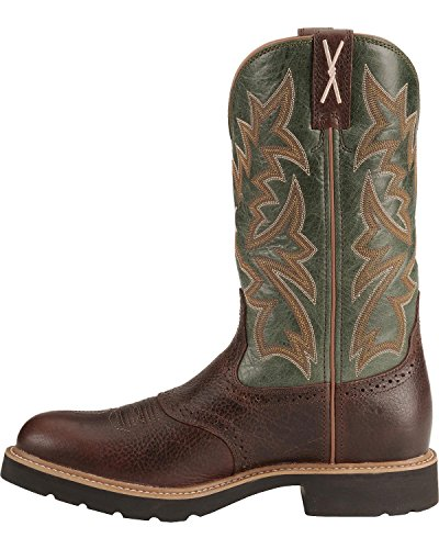 Stivaletti X Cowboy Stivali Da Lavoro Westernreitstiefel Cognac Verde Scuro