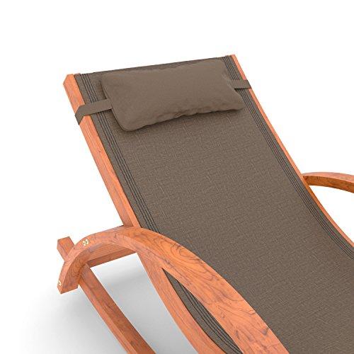 Ampel 24 Relax Schaukelstuhl Rio, Relaxliege mit Armlehnen, Gartenmöbel aus vorbehandeltem Holz, Stuhl Bespannung braun, wetterfeste Gartenliege - 2