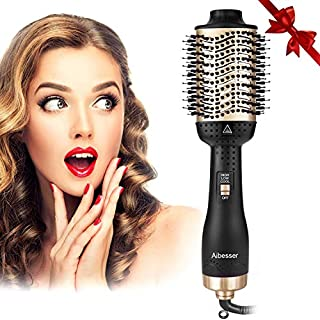 Aibesser Haartrockner, 5 In 1 Upgrade Multifunktions Warmluftbürste Hair Dryer & Volumizer Heißluftbürste Negativer Lonic Föhnbürste Haarglätter Bürste Heißluftkamm Stylingbürsten für Alle Styling