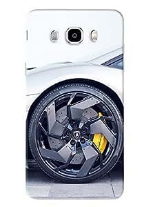 Blue Throat Car Wheel Printed Designer Back Cover/Case For Samsung Galaxy J5 2016