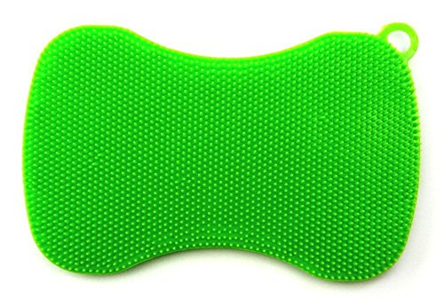 Image of Kochblume Swisch Silikonschwamm limette Lappen aus Silikon