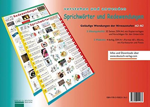 Lernplakate Sprichwörter und Redewendungen: 2 Übungshefte und 2 Plakate